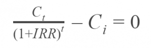IRR Simple Equation
