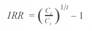 IRR Equation Simplified