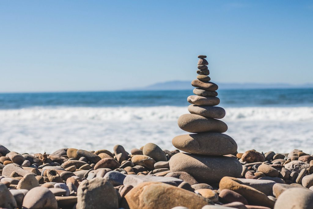 Stones Balance Shore
